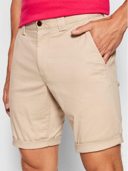 Beżowe szorty materiałowe Tommy Jeans