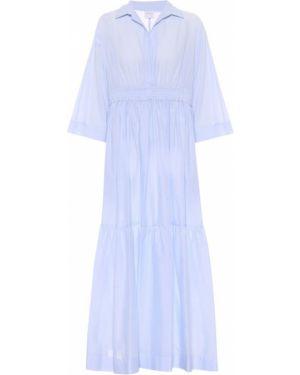Платье мини макси синее Max Mara