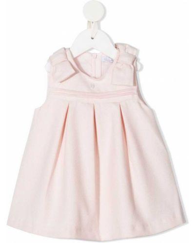 Ватное хлопковое плиссированное розовое платье Patachou