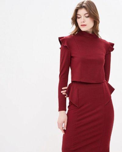 Юбочный костюм бордовый красный Tzetze