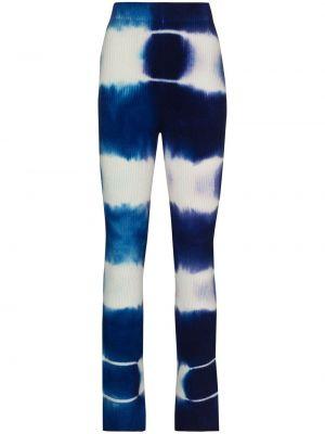 Расклешенные вязаные синие брюки The Elder Statesman