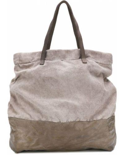 Серая сумка шоппер с камнями Cecchi De Rossi
