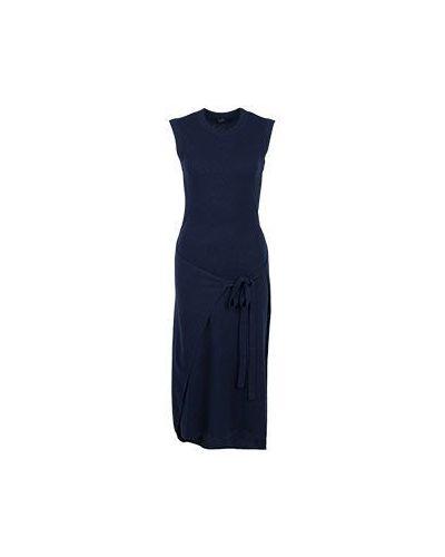 Платье шерстяное синее Joseph