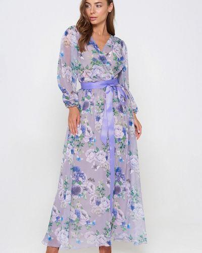 Вечернее платье весеннее фиолетовый Sellin