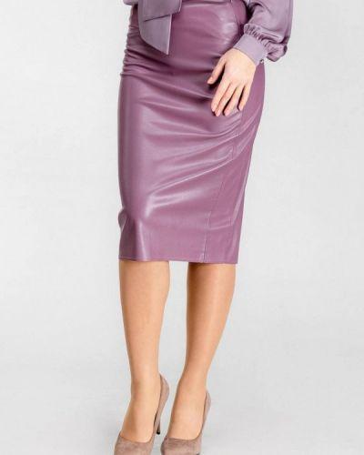 Кожаная юбка фиолетовый Dressinjoy By Lipashova & Malko