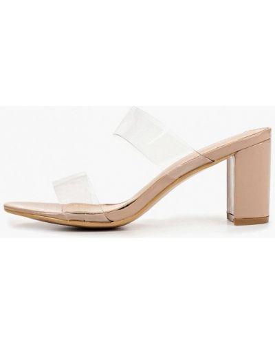 Сабо на каблуке бежевые Style Shoes