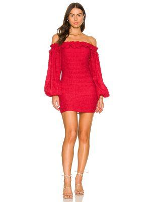 Платье мини с декольте Majorelle