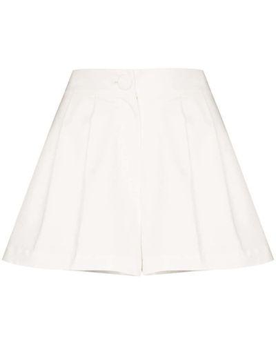 Хлопковые белые с завышенной талией шорты Adriana Degreas