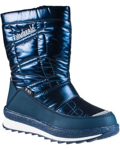 Синие текстильные зимние ботинки Blessbox
