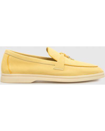 Слиперы - желтые Loro Piana