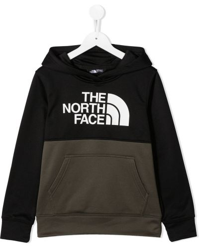 Классический пуловер с капюшоном хаки с длинными рукавами The North Face Kids