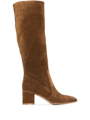Кожаные сапоги - коричневые Gianvito Rossi