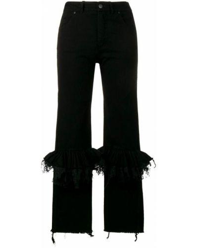 Расклешенные черные джинсы Preen By Thornton Bregazzi
