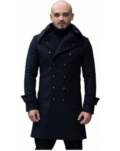 Klasyczny płaszcz wełniany zapinane na guziki Reykjavik District