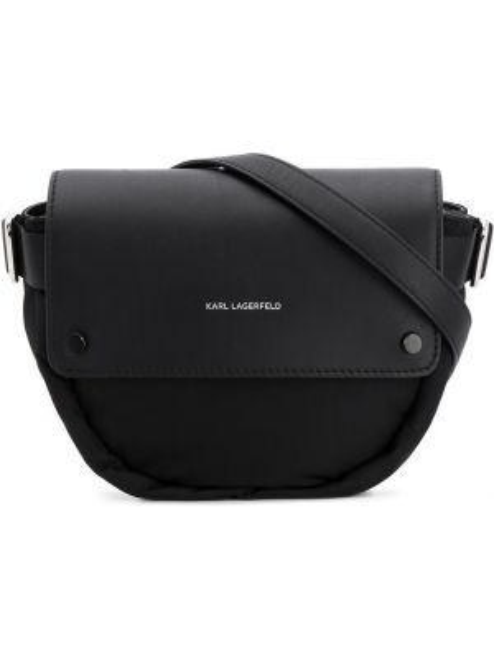 Поясная сумка со вставками черная Karl Lagerfeld