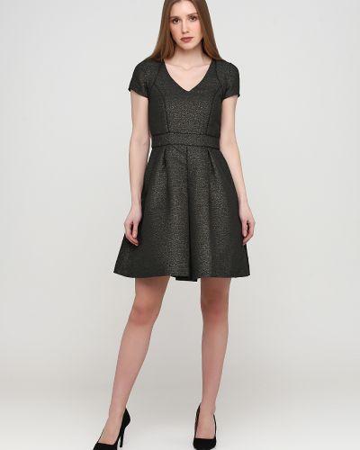 Черное платье с вырезом без рукавов Sinequanone