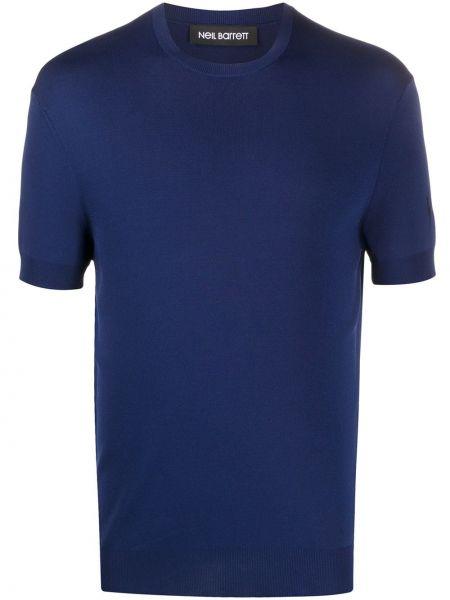 Koszula krótkie z krótkim rękawem wyposażone niebieski Neil Barrett
