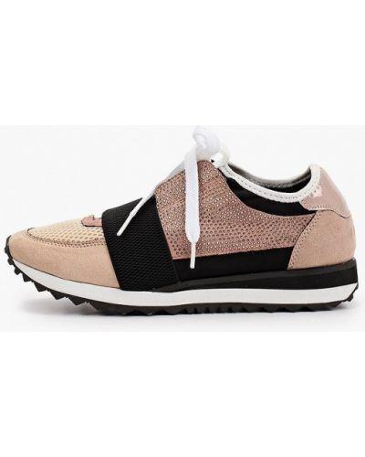 Кожаные бежевые лаковые кроссовки Lolli L Polli