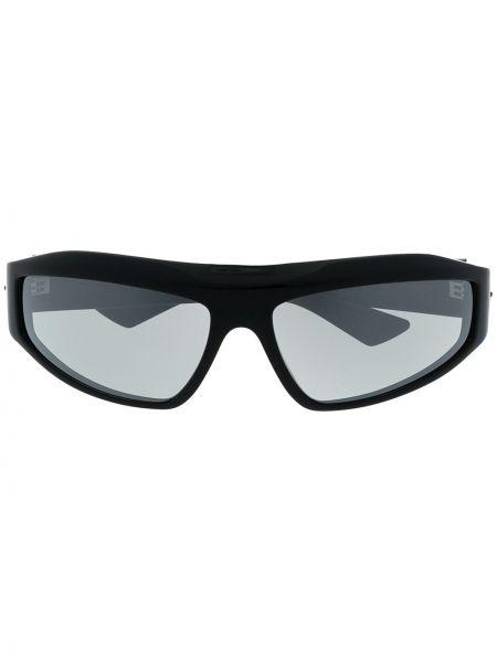 Черные солнцезащитные очки для полных Bottega Veneta Eyewear