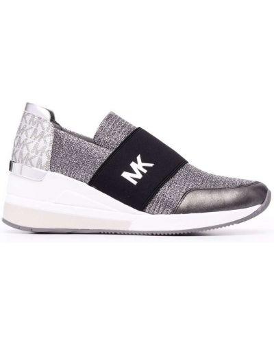 Кожаные кроссовки - серые Michael Michael Kors