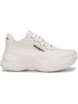 Кожаные белые кроссовки на шнуровке Misbhv