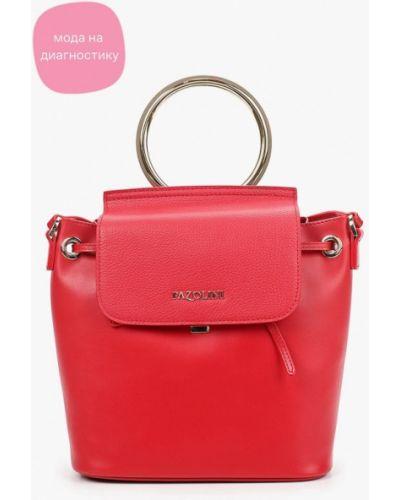 Красная сумка через плечо из натуральной кожи Pazolini