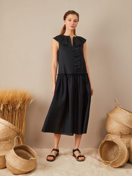 Черное платье с оборками 12storeez
