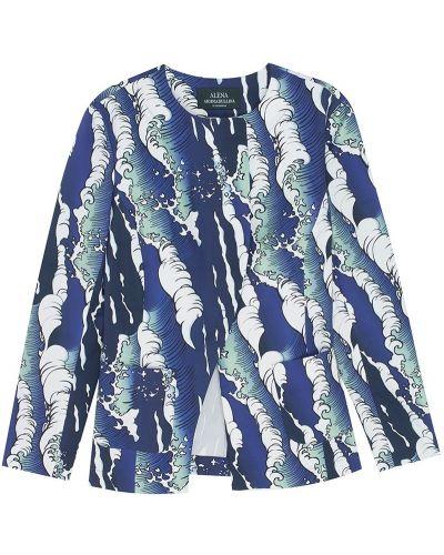 Хлопковый синий пиджак в морском стиле Alena Akhmadullina