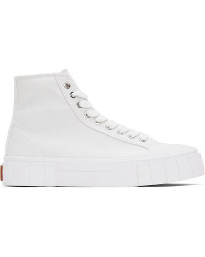 Белые кроссовки на шпильке Good News