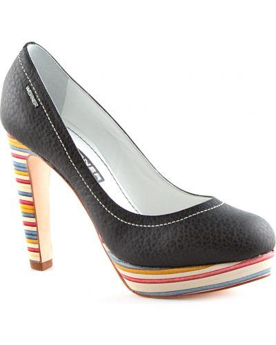 Черные туфли на танкетке Werner