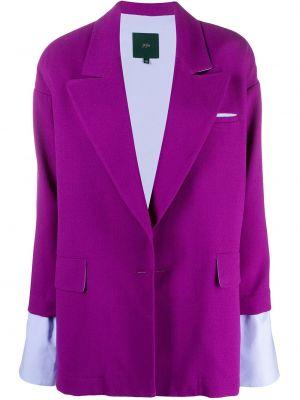 Шерстяной малиновый пиджак с карманами Jejia