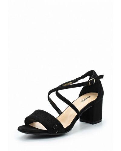 Босоножки на каблуке велюровые Zenden Woman