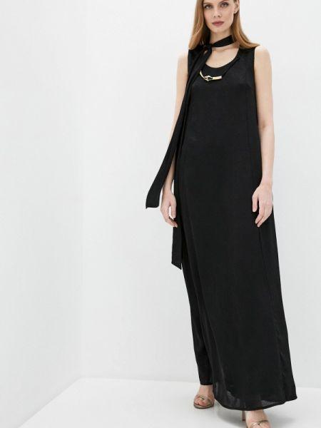 Черное вечернее платье Cavalli Class
