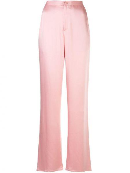 Розовые свободные брюки с карманами на пуговицах свободного кроя Sally Lapointe