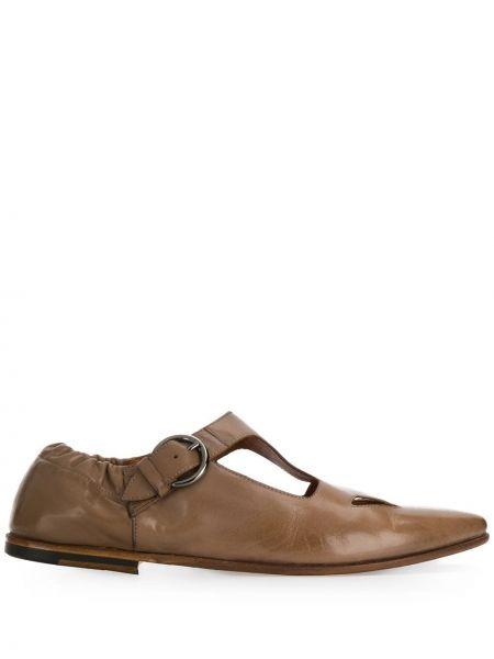 Кожаные туфли с пряжкой Silvano Sassetti