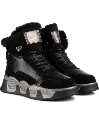 Ботинки с мехом - черные Lifexpert