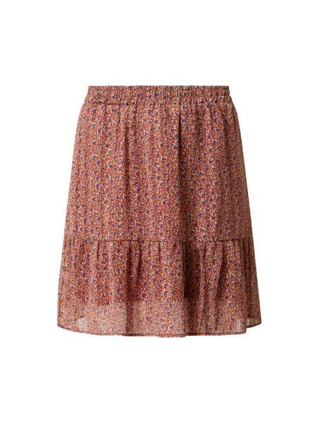 Spódnica mini rozkloszowana z falbanami z szyfonu Lollys Laundry