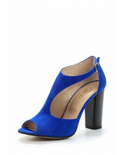 Синие босоножки на каблуке Dali