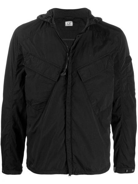 Куртка с капюшоном на молнии прямая Cp Company Kids