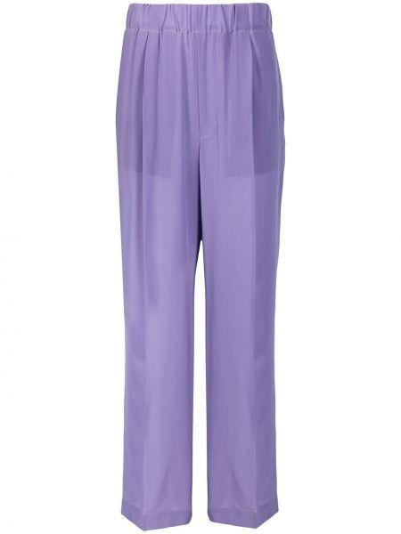 Фиолетовые расклешенные брюки с поясом Jejia