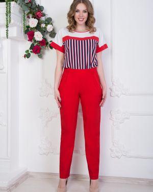 Летние брюки с защипами с карманами Diolche