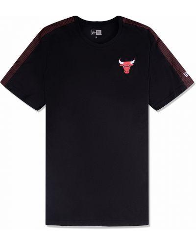 Хлопковая черная футболка с воротником New Era