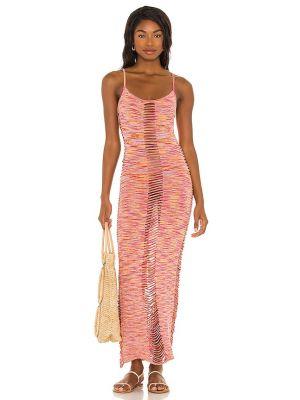 Fioletowa sukienka z wiskozy Lovewave