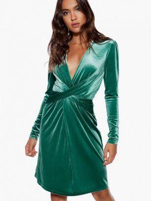 Вечернее платье осеннее зеленый Ivyrevel