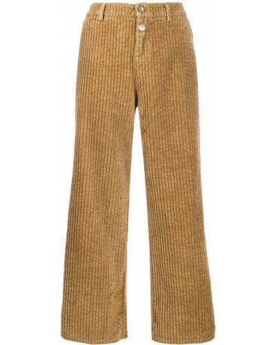 Свободные брюки брюки-хулиганы вельветовые Liu Jo