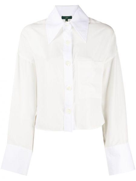 Белая прямая рубашка с воротником на пуговицах Jejia