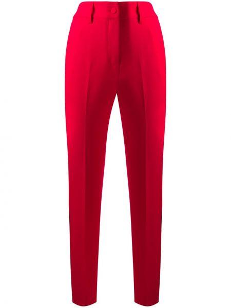 Красные деловые брюки на пуговицах с высокой посадкой Blumarine