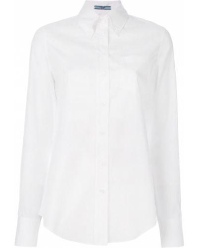 Рубашка с длинным рукавом с карманами Prada