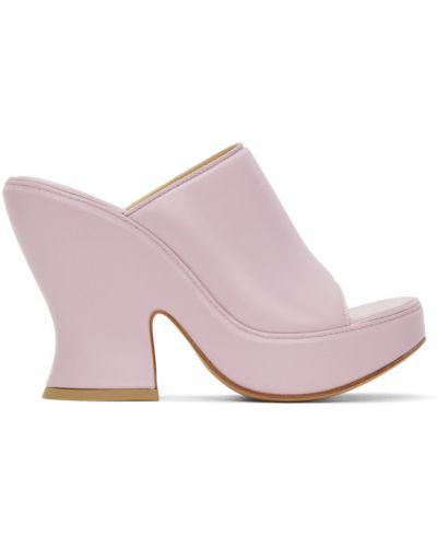Открытые кожаные сандалии на платформе Bottega Veneta