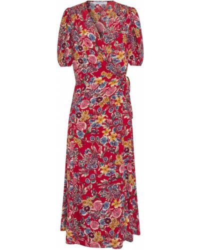 Красное платье из вискозы Gerard Darel